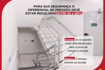 diferencial de pressão na pressurização de escadas